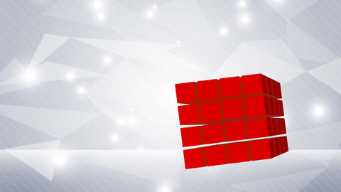 Abstract background in light grey and red square Animation