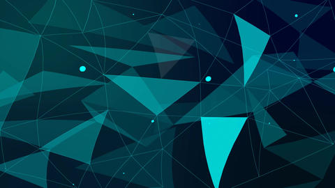 Abstract triangle shape background in blue color Animation