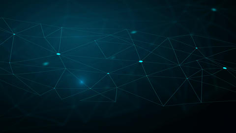 Abstract triangle background with lines and dots Animation