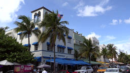 USA Florida Miami Beach luxury hotel in Art Deco style on Ocean Drive 画像