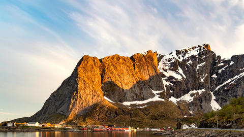 Time lapse footage of Lofoten islands, Nordland, Norway Footage