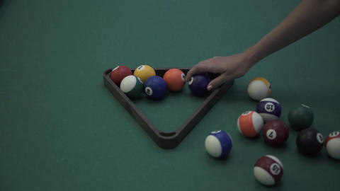 billiard balls arrangement Footage