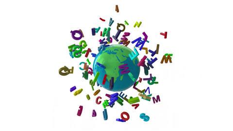 Alpabet letters globe CG動画素材