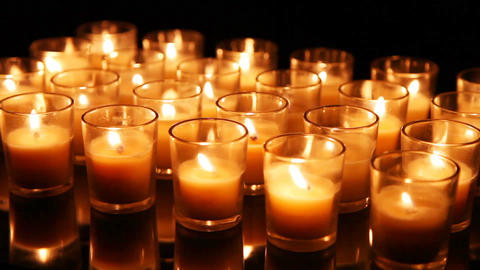 Close Up Background Of Candles Image