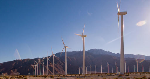 Wind Farm In California Footage