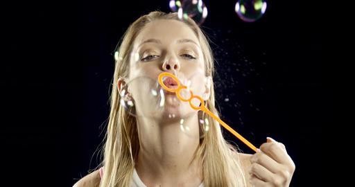 Pretty Woman Blowing Bubbles Live Action