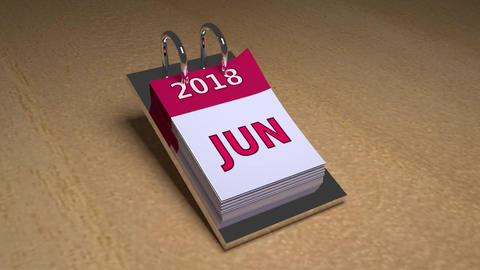 Animated 2018 Calendar Animation