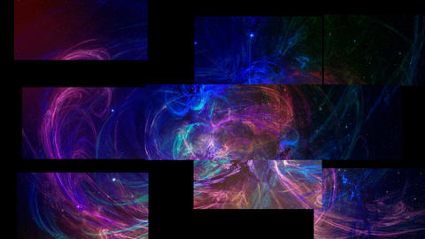Fractal abstract puzzle connect to abstract background Stock Video Footage