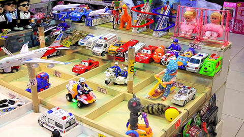 Toys shop at Eminonu underpass, Istanbul Footage