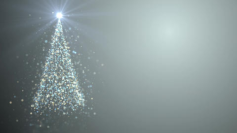 Merry Christmas greeting video card Animation