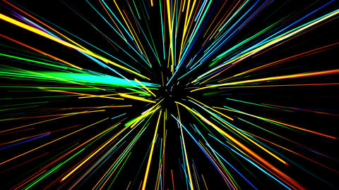 glowing waved lines Animation