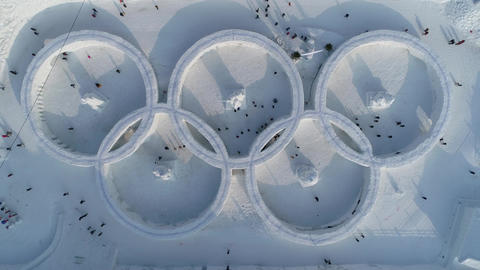 olympic logo, snow festival,winter olympics ビデオ