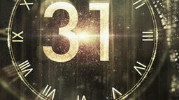 New Year Countdown Animation.New Year's Eve.Countdown 60 Second gold CG動画素材