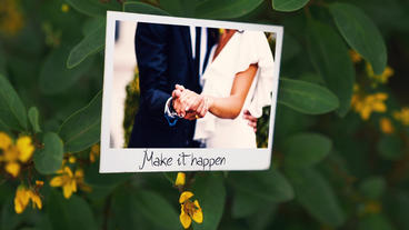 The Blossom Wedding Photo Gallery Slideshow After Effects Template