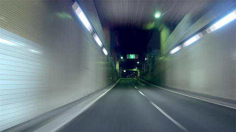 "Timelapse - Metropolitan Expressway. Inner circle route ""C1"" clockwise Bild"