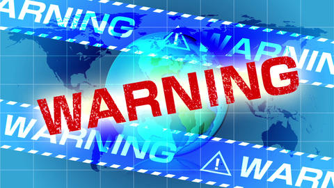 Warning message to the world Animación