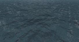 Ocean Scene - Day time, 500 Meters high scanning Ocean 360° Footage