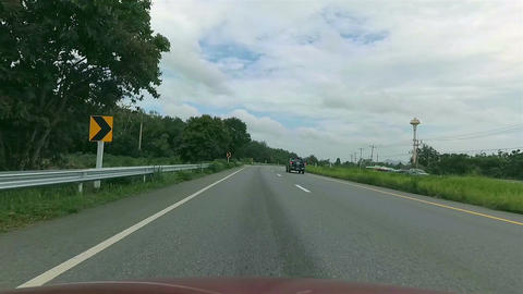 POV Car driving on the road Footage