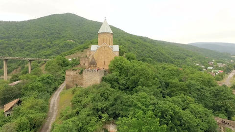 Ananuri church and castle complex Live Action