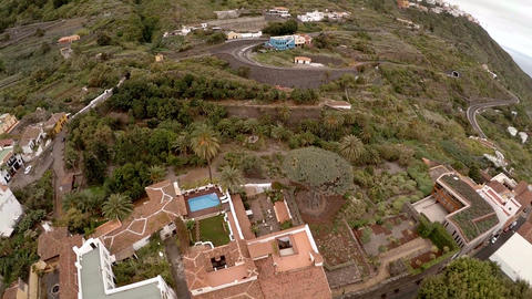 Unforgettable vacation in Tenerife. Exotic plants and trees, hotels and beaches Footage
