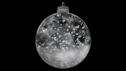 Christmas Rotating White Ice Glass Bauble Decoration snow... Stock Video Footage