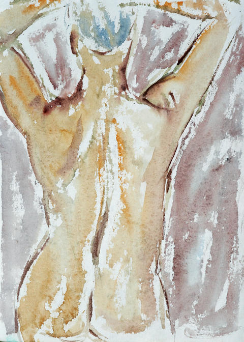 Sketch of woman figure - fineart Photo