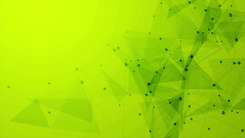 Abstract green tech low polygons comminication motion design Animation