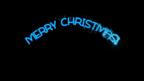 Merry Christmas - Sparkler Text Animation Alpha Channel