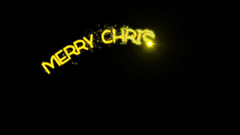 Merry Christmas - Sparkler Text Animation Alpha Channel 1