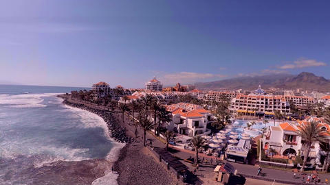 Unforgettable vacation in Tenerife. Exotic plants and trees, hotels and beaches GIF