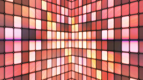 Broadcast Twinkling Hi-Tech Cubes Walls, Brown, Abstract, Loopable, 4K Animation