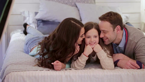 Happy family at home Live Action