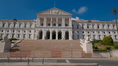 Palacio de Sao Bento, Lisbon, Portugal Live Action