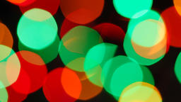Fast flashing of medium size bright blurred festive and colorful Christmas Footage