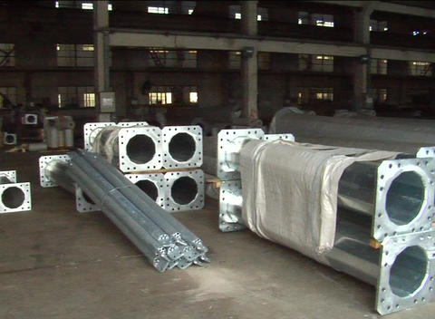 Steel in warehouse near Shanghai China Stock Video Footage