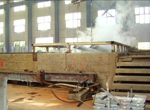 Steel processing in Chinese factory Stock Video Footage