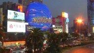 Futuristic Shanghai Skyline stock footage