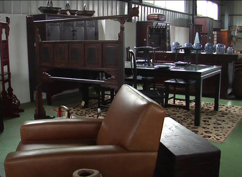 Antique Chinese furniture on sale Footage