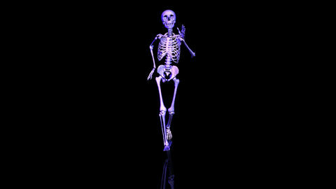 Skeleton running. Loop. Front Stock Video Footage