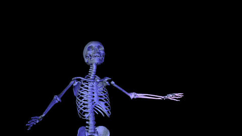 Skeleton dancing bow Stock Video Footage