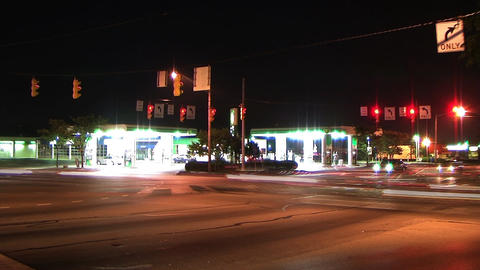 Busy Intersection Time Lapse Live Action