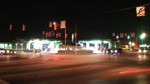 Busy Intersection Time Lapse Stock Video Footage