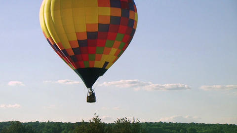 Hot Air Balloon Takes Flight Stock Video Footage