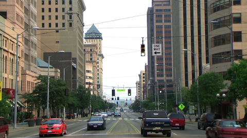 Downtown Traffic Stock Video Footage