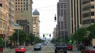 Downtown Traffic stock footage