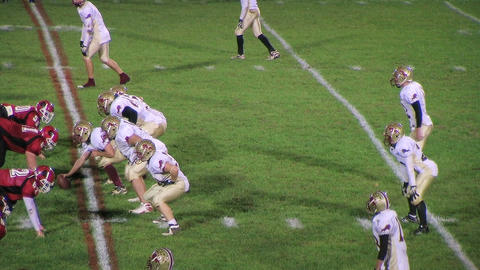 Football Quarterback Draw Stock Video Footage