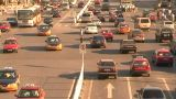 Beijing traffic at cross junction Stock Video Footage