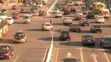 Beijing traffic at cross junction Footage