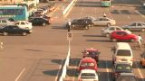 Beijing Traffic At Cross Junction stock footage