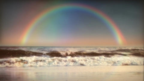 1032 Rainbow Surf and Ocean Footage